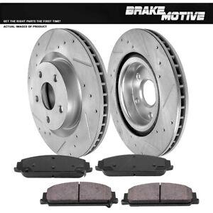 For 2008 2009 Pontiac G8 GT Front Kit Drill Slot Brake Rotors & Ceramic Pads