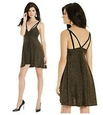 💕 $198 GUESS BY MARCIANO TESS METALLIC BABYDOLL DRESS 💕