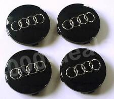 1 Satz Audi Nabenkappen Felgendeckel Nabendeckel 60mm 4B0601170A Schwarz