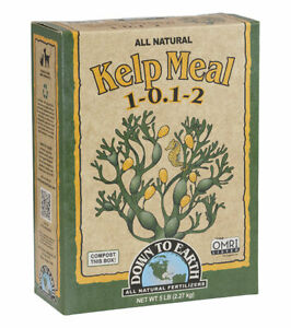 Down to Earth - Kelp Meal (1-0.1-2) 5 LB - All Natural Organic Fertilizers