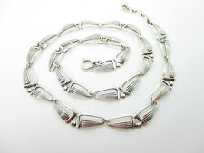Designer Collier 835 Silber Halskette Art Deco Kette Modernist Vintage silver ne