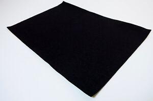 Profi Filz Meterware 1mm dick, schwarz | stark selbstklebend | ab 0,1 Laufmeter