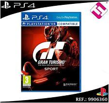 VIDEOJUEGO PARA PS4 PLAYSTATION 4 GRAN TURISMO GT SPORT FISICO 100% CASTELLANO