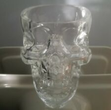 Genuine GLASS Crystal Head Vodka Dan Aykroyd SKULL Shot Glasses Set of 2 HEAVY