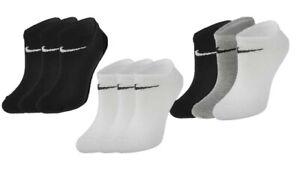 Nike Sneaker Socken Füßlinge 6, 9, 12, 15 Paar schwarz, weiß, grau Größe 34-50
