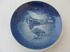 """Copenhagen Porcelain 7"""" Collectors Plate Christmas At The Old Watermill # 9075"""