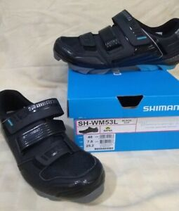 Shimano SH-WM53L Shoes Womens Black Size 8.5