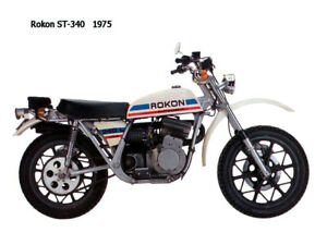 Motorcycle Canvas Picture Rokon ST340 1975 Canvas 16x12 inch