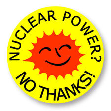 Magnet Aimant Frigo Ø38mm Nuclear Power Nucleaire Green Peace Uranium Radioactif