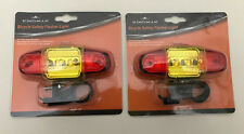 2 X Bicycle Safety Flasher Light-Super Bright LED-Dual Flash Speed Operation