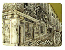 Fridge magnet,Dublin,irish souvenir,ireland 3D design TEMPLE  BAR/Yellow
