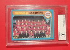 1979-80 OPC MONTREAL CANADIENS TEAM PHOTO/CHECKLIST CARD #252 Bvg6