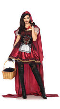 Little Red Riding Hood Adult Ladies Costume Fancy Dress Halloween Party Outfit