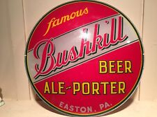 Clean Bushkill Beer Ale Reverse Painted Lighted Advertising Sign Face Easton Pa