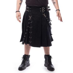 Chemical Black Goth Gothic Punk Festival Rave Schottenrock Calle Kilt Schwarz