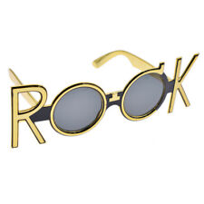Gold Rock Costume Glasses Party Novelty Sunglasses Gift Decoration Supplies 1 Pc
