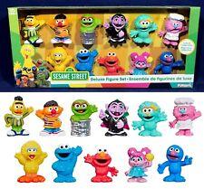 SESAME STREET DELUXE FIGURE SET - 11 Figurines PLAYSKOOL Muppets CAKE TOPPERS