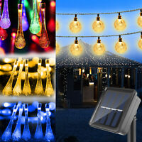 21ft 30 LED Solar Power Fairy String Lights Patio Party Bar Lamp Yard Waterproof