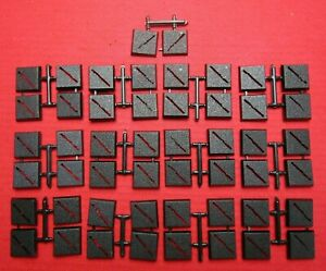 25mm Square New Slotta Bases x50 Warhammer 40k Lord of The Rings Miniatures Slot