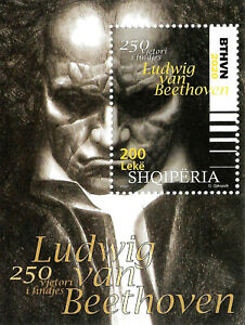 "ALBANIA 2020 "" Ludwing van Beethoven, 250th birthday "" Block MNH"