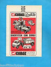 TOP970-PUBBLICITA'/ADVERTISING-1970- CORGI TOYS - VETTURA POPEYE+MERCEDES UNIMOG