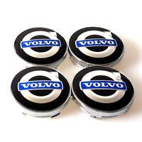 4x 60mm Volvo noir bleue jantes couvercle moyeux capuchon roue enjoliveur caché