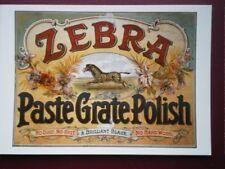 POSTCARD  ZEBRA PASTE GRATE POLISH