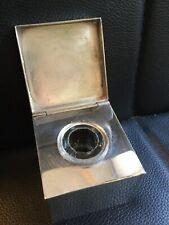 Antique Vintage Sterling Silver Traveling Desk Inkwell