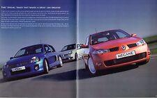Renault RenaultSport Clio 182 V6 Megane 225 2004-05 UK Market Sales Brochure