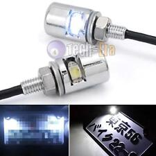 2pcs White 5730-SMD Bolt-On LED For Car Motorcycle ATV Bike License Plate Light