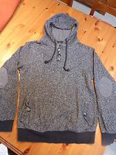 Jungen Pullover / Kapuzenpullover, SMOG, Größe S, grau/schwarz