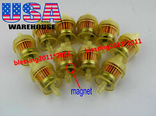 "10x SUZUKI ATV DIRT BIKE INLINE GAS CARBURETOR FUEL FILTER 1/4"" 6-7mm ENGINE AAA"