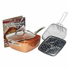Copper Chef 5-Piece Deep 9.5-Inch Square Pan Set