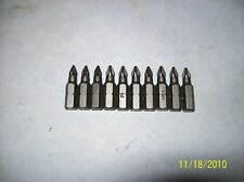 Phillips #1 bits,  MADE IN USA- 10 qty