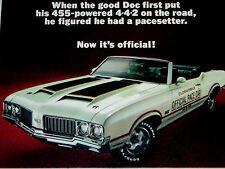1970 Olds 442 Original Ad / Indy 500 Pace Car -W-25/Oldsmobile Cutlass/door/hood