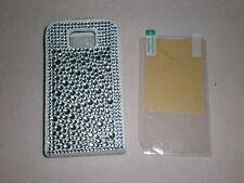 Samsung Galaxy S2 i9100 Strass Bling Leder Flip Case