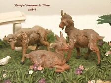 "FONTANINI DEPOSE ITALY 4"" 3 PC GOAT SET NATIVITY VILLAGE ANIMAL FIGURES MINT"