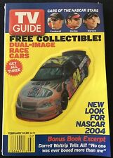 TV GUIDE: FEBRUARY 14-20 ~ CARS OF THE NASCAR STARS ~ NASCAR 2004 #1
