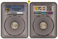 1944-S Australia KGVI Silver Threepence Coin PCGS Graded MS65