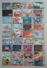 Starbucks Cards 2017 Christmas Holiday Complete Set 56
