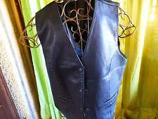 unisexe, T42-44 cuir  gilet noir +jupe simili offerte NOIRE T2