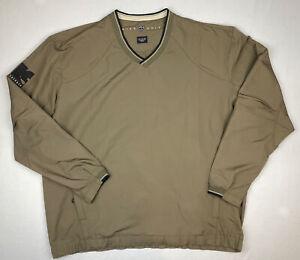 Nike Golf Mens V-Neck Windbreaker Jacket Coat Size XL Polyester Pullover