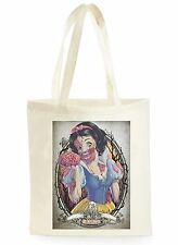 FUNNY ZOMBIE SNOW-WHITE COOL FASHION SHOPPING CANVAS TOTE BAG IDEAL GIFT PRESENT