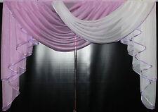 Deko - Gardine, Store, Vorhang in der Farbe flieder / weiss