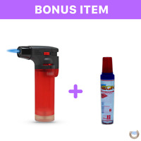 Eagle Jet Torch Adjustable Flame Windproof Refillable Lighter Red FREE BUTANE