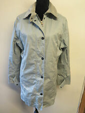 Ladies Barbour L433 Lightweight Newmarket Cotton Coat Jacket UK14 Euro 42 - Grey