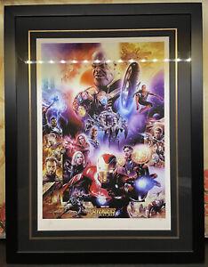 Sideshow Art Print Framed Marvels Avengers Infinity War