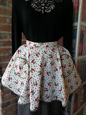 Vintage Apron Red Rooster Print with Nice Styling