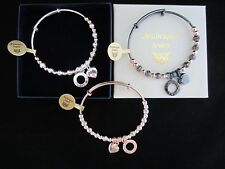 GENUINE MI STERLINA MILANO BEADED HEART CHARM/RING STACKING BANGLE/BRACELET ULA