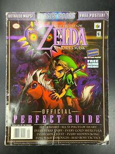 Legend of Zelda Majora's Mask Official Perfect Guide W/Poster